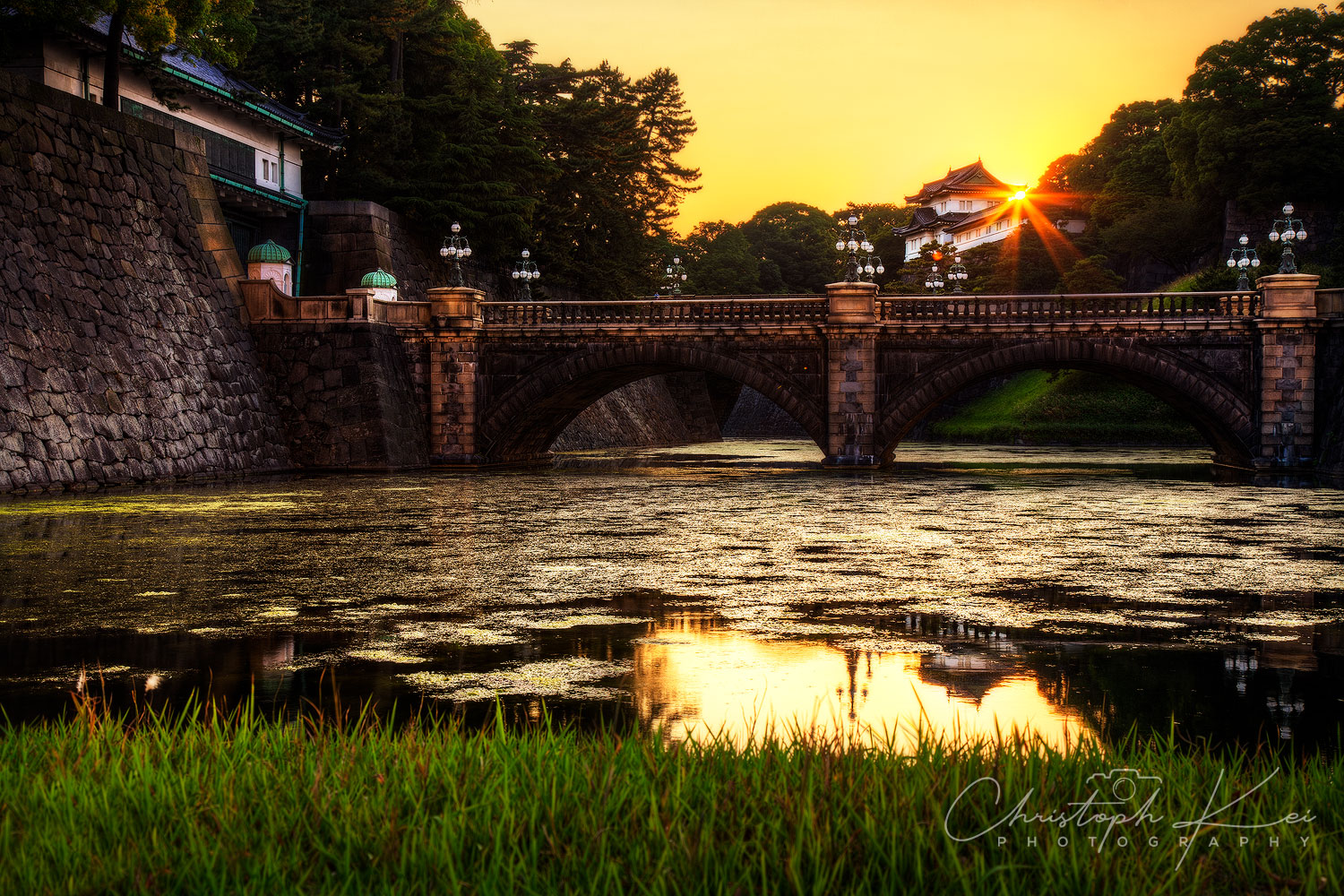 Sun setting at the Imperial Palace